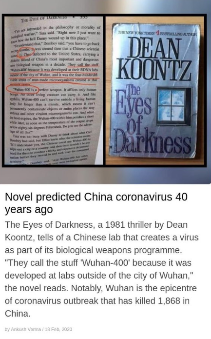 Coronavirus was planned - A Synopsis of devilish coincidences 87