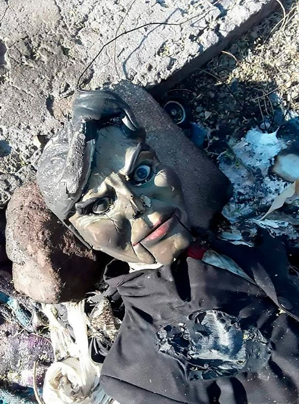 "The ""cursed"" doll was found abandoned in Mexican river after being burned by frightened neighbors  93"