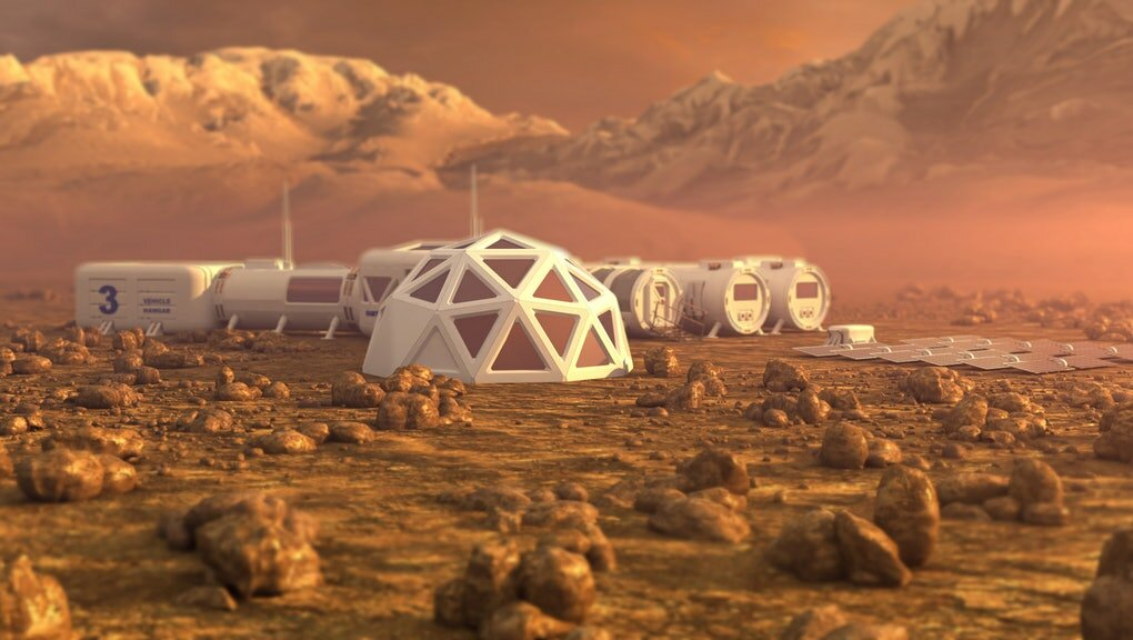 Photo: mic.com / Colonization of Mars as an artist