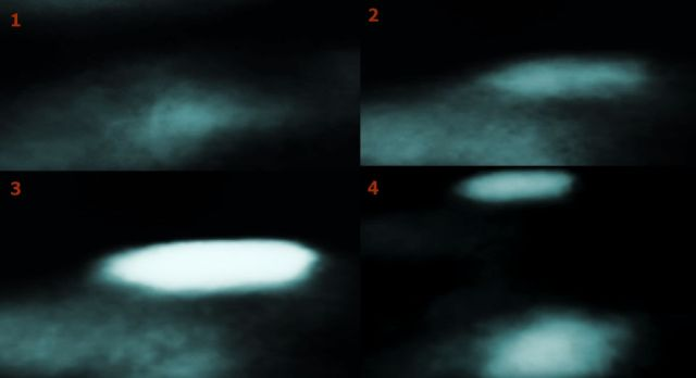 A mysterious bright UFO suddenly appeared on the surface of the moon 86
