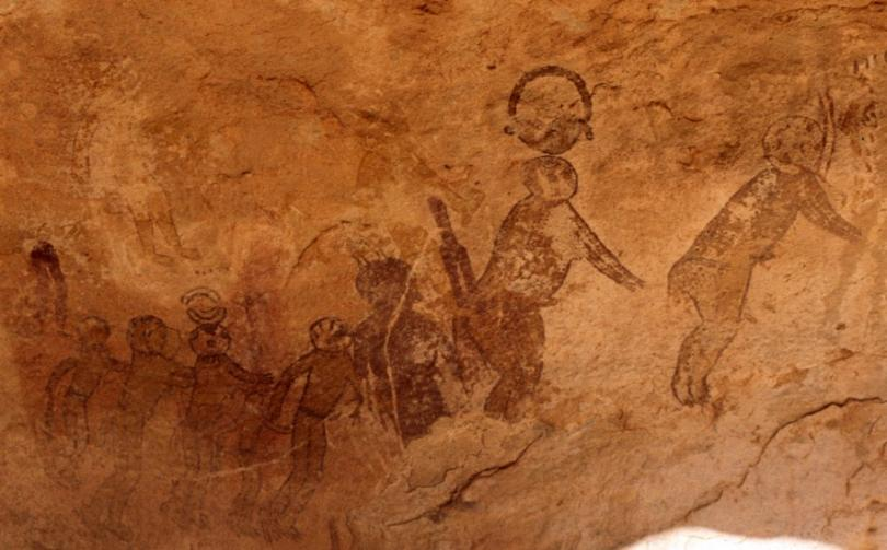 Mysterious frescoes depicting fantastic creatures found in Sahara 90