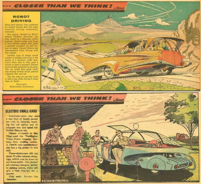 Unmanned vehicles and electric cars (Arthur Radebo comics)
