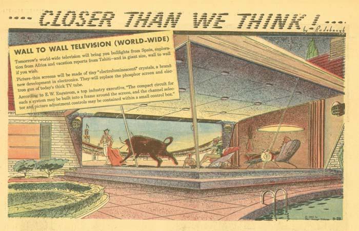 Huge panoramic TV (Arthur Radebo comics)