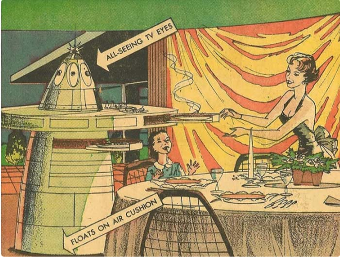 The robot who cooked and served the food, and before that, washed the whole house (Arthur Radebo comics)