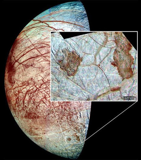 Aliens at Jupiter: under the icy shell of Europe it is possible to meet higher forms of life 89