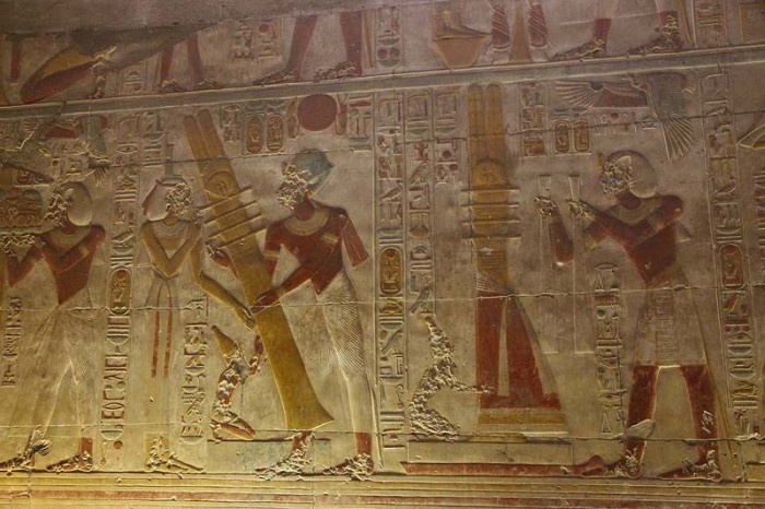 Helicopter, tank, submarine: what is actually depicted on the walls of the temple in Abydos 96