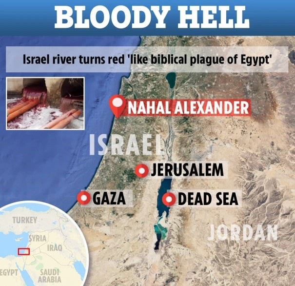 Rivers, ponds and even rains turn red all over the world 2
