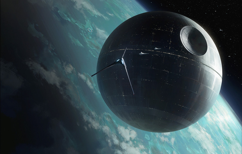 Why does a Death Star hangs over the Moon? 86