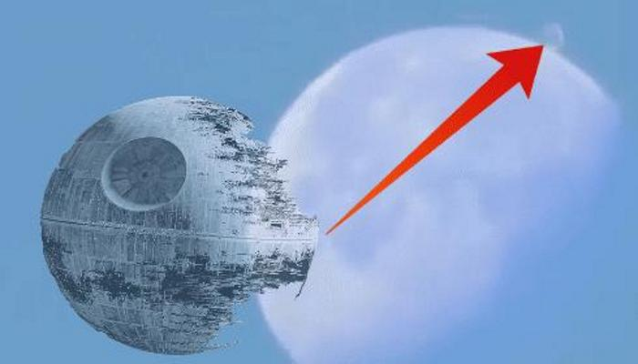 Why does a Death Star hangs over the Moon? 88