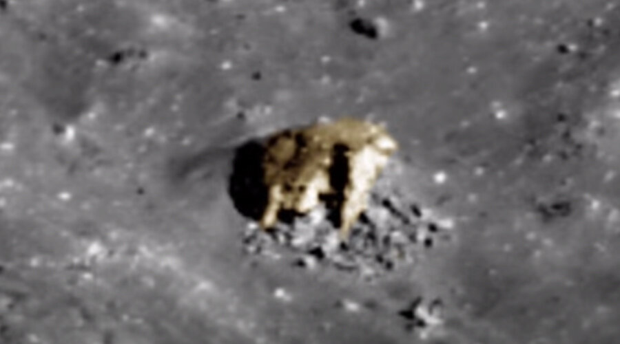 Photo of the object located in the crater on the moon (from open Internet sources)