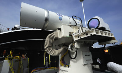 US shows laser weapon test against drones 90