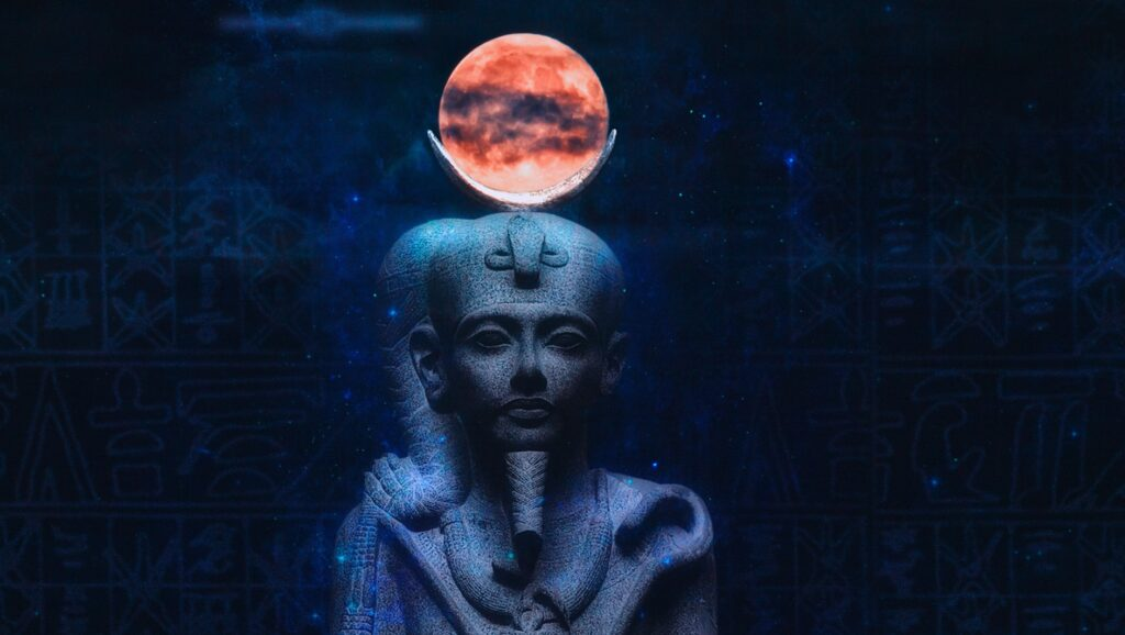 Traces of the ruler of ancient Egypt lead to the moon 7