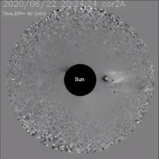 Nibiru with satellites spotted near the sun 98
