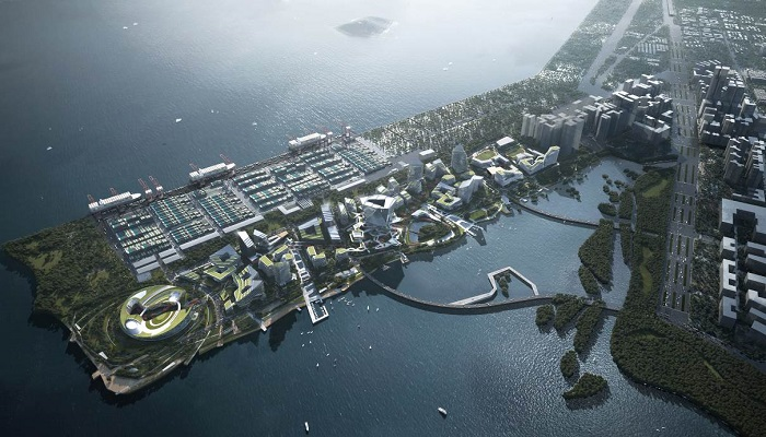 The conglomerate Tencent bought an unusable piece of land in Dachan Bay for $ 1.2 billion to build its city. | Photo: eyeshenzhen.com/ © NBBJ.