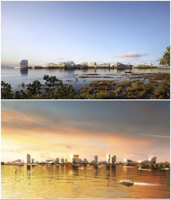 The wetland area will soon become the city of the future (Net City concept). | Photo: archiposition.com/ © NBBJ.