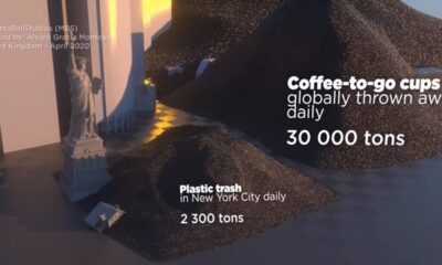 A clear comparison of all the plastic in the world with New York 87