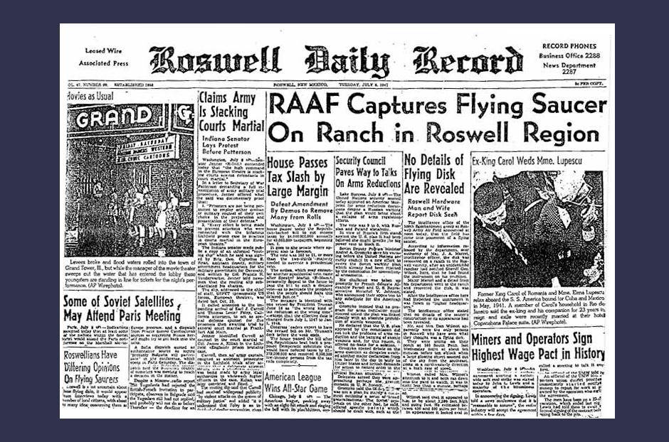 Red UFOs. Stalin suspected of alien attacks on the United States 98