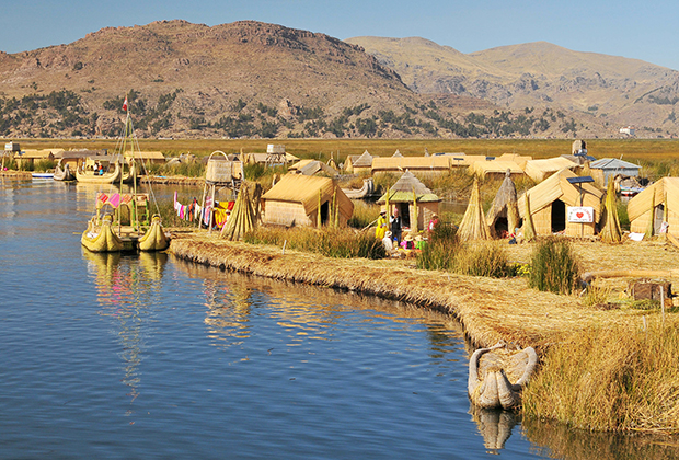 Floating Village on Lake Titicaca