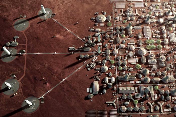Several million people live on Mars 2