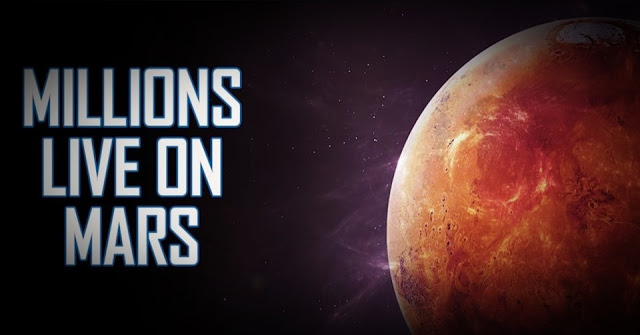 Several million people live on Mars 18