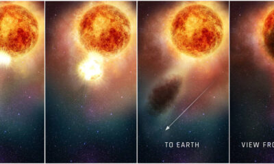 A giant explosion recorded on the star Betelgeuse 87