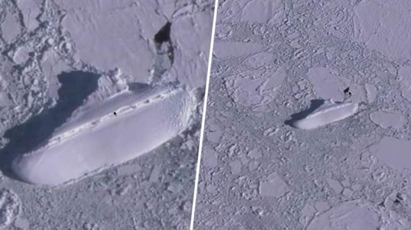 "Noah's Ark or Nazi ship: a mysterious ""ship"" discovered off the coast of Antarctica 87"