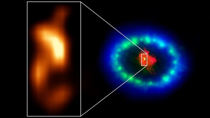 Neutron star formed in front of astronomers 87
