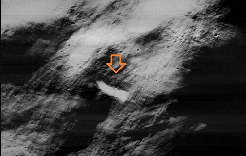 Short-lived lunar event: a strange object above the lunar surface