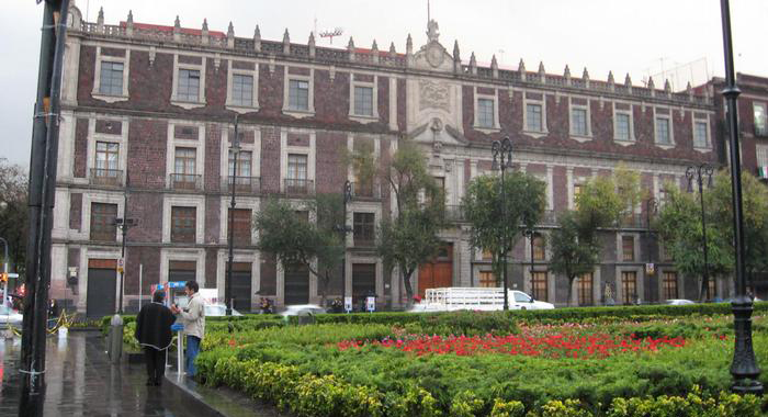 Historic building in the central square of Mexico City.