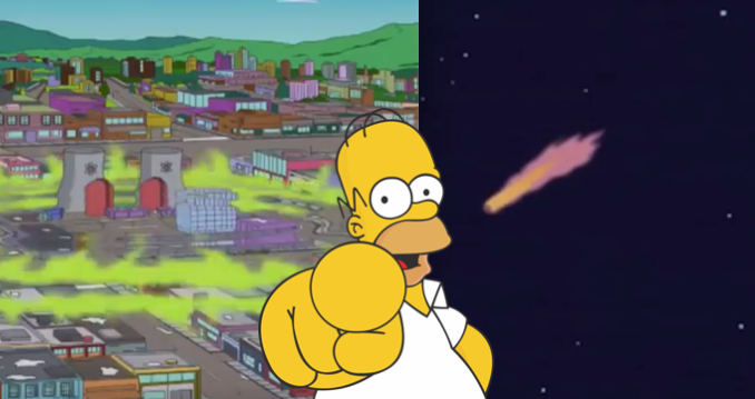 The Simpsons hint at an asteroid fall on September 24 4