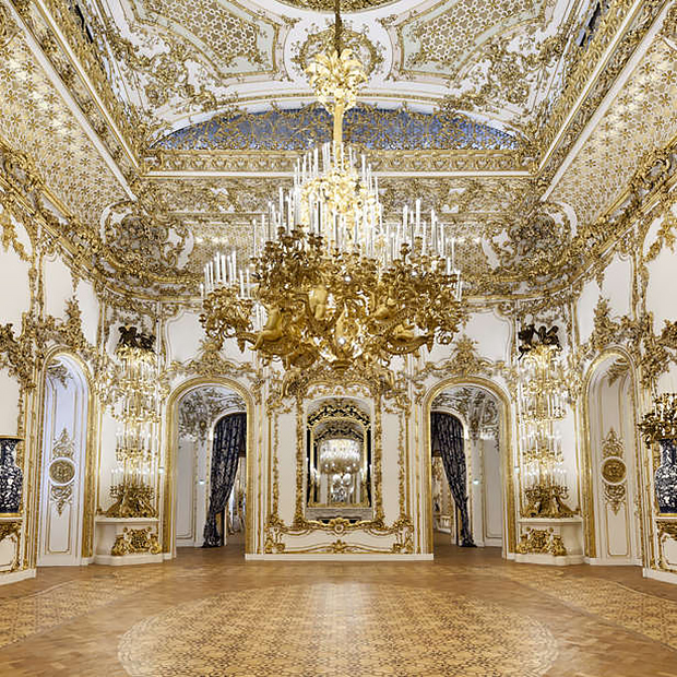 Ballroom of 165 square meters at the Royal City Palace in Vienna