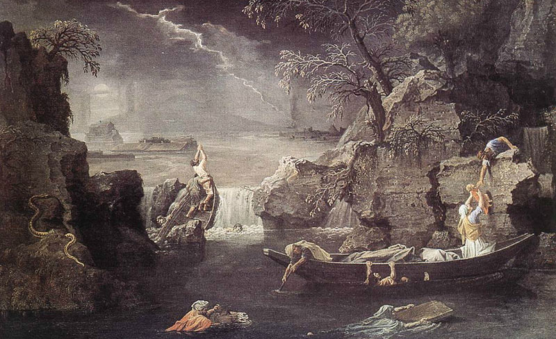 """Winter.  Global flood"".  Nicolas Poussin."