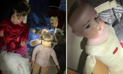 A woman discovered in a new house a secret room with creepy dolls 127