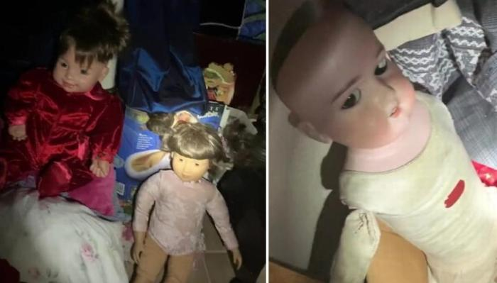 A woman discovered in a new house a secret room with creepy dolls 24