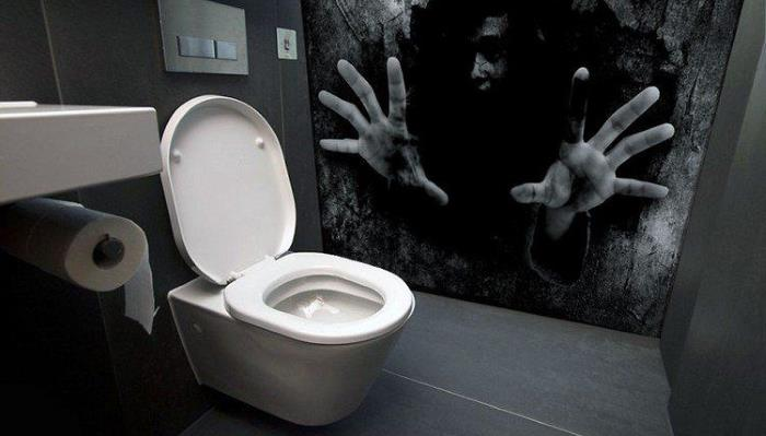 A haunted toilet was installed in an amusement park in Japan 16