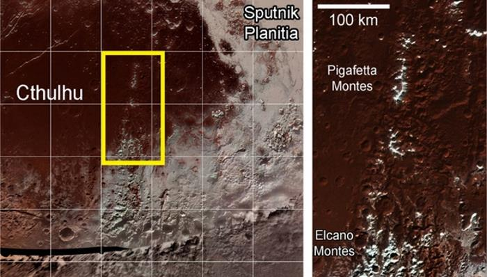 Methane snow found on the tops of Pluto's equatorial mountains 87