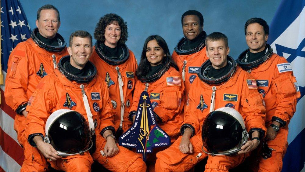Seven Columbia Astronauts - Rick Hasband, William McCool, Michael Anderson, Kalpan Chawla, Laurel Clark, Ilan.