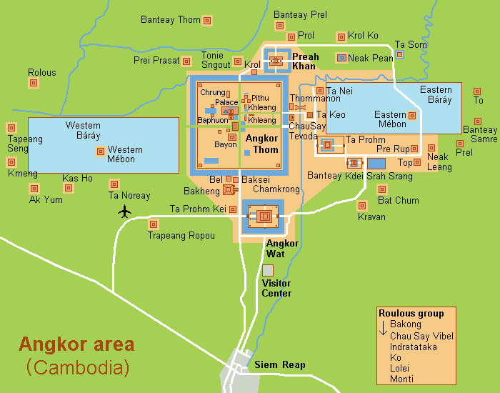 plan-map of Angkor