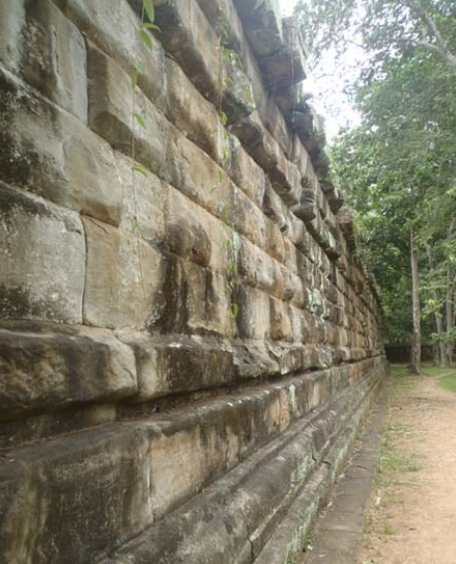 polygonal masonry in Angkor