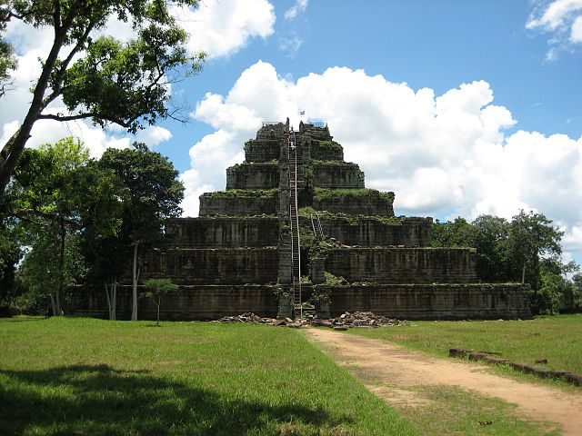 Kohker pyramid in Cambodia