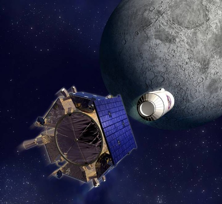 In 2009, vapor from lunar water kicked up an explosion from a rocket stage hitting a crater.