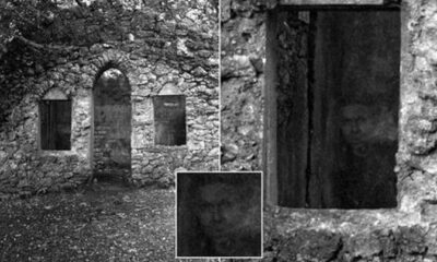 A photographer took a picture of an old house, but did not know that a woman lived there. No wonder - you can only see it in the photo 73