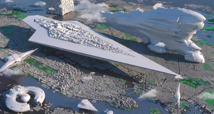 Comparative sizes of starships: Star Destroyer or Transformers ship, which is bigger? 86