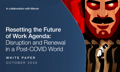 "World Economic Forum Project: ""Resetting the Agenda for the Future: Destruction and Renewal in the Post-COVID World"" 103"