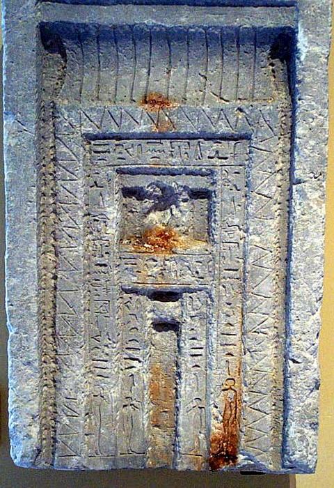 False door in an Egyptian tomb