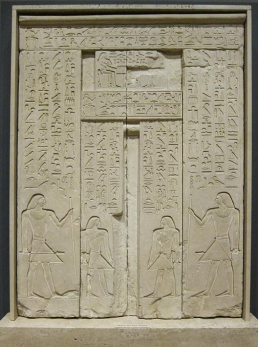 The door was decorated with hieroglyphs telling about the deceased