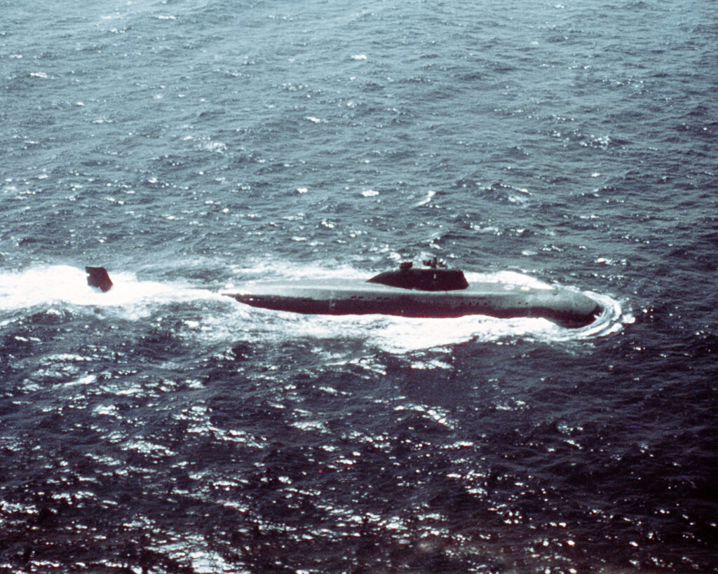 "Soviet nuclear submarine of project 671 ""Ruff"" / © US Department of Defense"