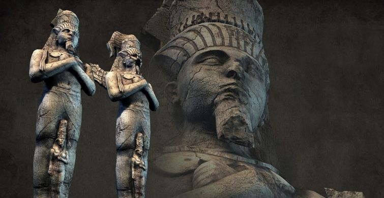 Secrets of the ancient Egyptian statues - whom did the Egyptians depict in the stone of gods or people? 1