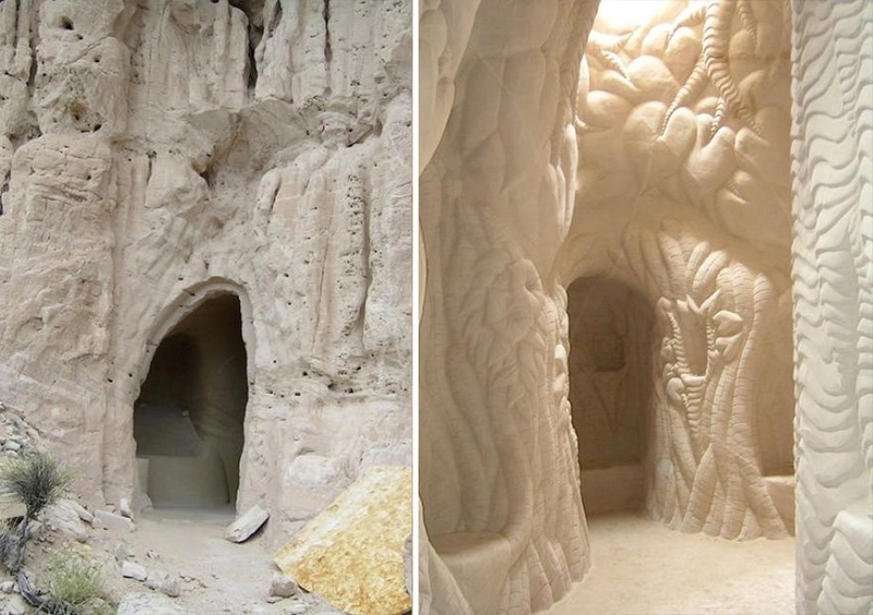 There is a man on Earth who makes caves: you will be amazed when you see what has done alone after 25 years 95