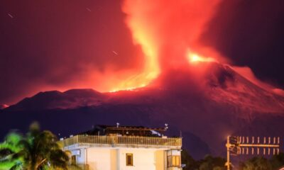 Etna volcano erupts in Sicily with 100 meters high lava fountains 89